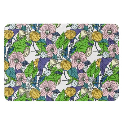 Spring Foliage by Catherine Holcombe Bath Mat Size: 17W x 24 L