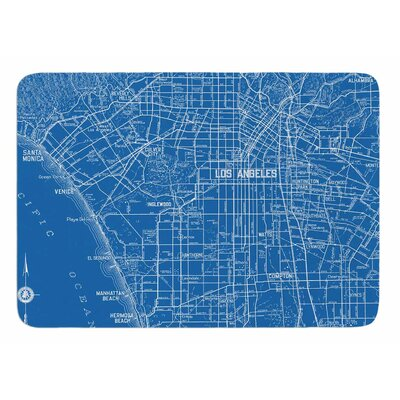 Los Angeles Streets by Catherine Holcombe Bath Mat