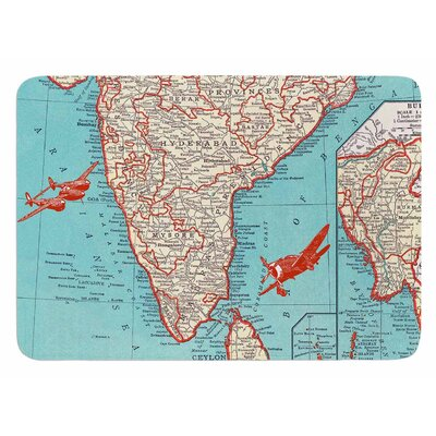 Travel To India by Catherine Holcombe Bath Mat