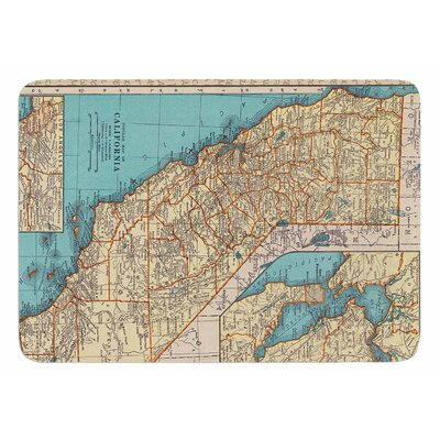 So Cal Surf Map by Catherine Holcombe Bath Mat