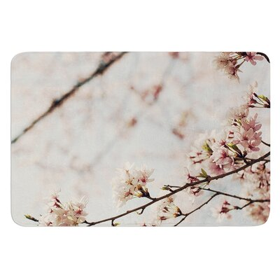 Japanese Cherry Blossom by Catherine McDonald Bath Mat Size: 17W x 24 L