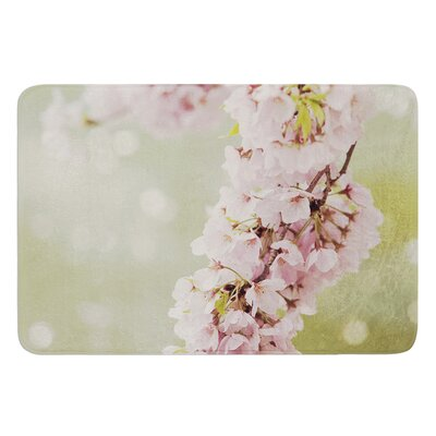 Cherry Blossom by Catherine McDonald Bath Mat Size: 24 W x 36 L