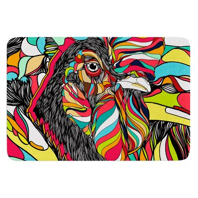 Tropical Cock by Danny Ivan Bath Mat Size: 17W x 24L