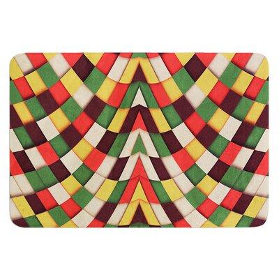 Rastafarian Tile by Danny Ivan Bath Mat Size: 24 W x 36 L