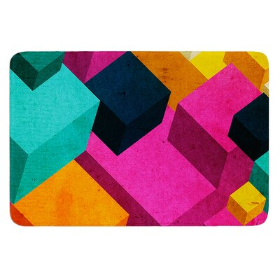 Happy Cubes by Danny Ivan Bath Mat Size: 17W x 24L