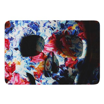 Skull Light by Danny Ivan Bath Mat Size: 17W x 24L