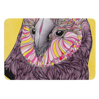 Lovely Owl by Danny Ivan Bath Mat Size: 17W x 24L