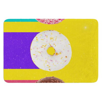 Donuts by Danny Ivan Bath Mat Size: 17W x 24L