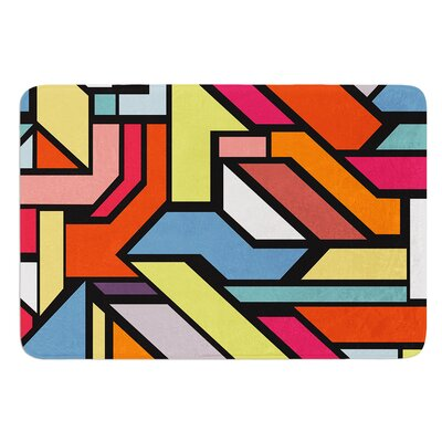 Abstract Shapes by Danny Ivan Bath Mat Size: 24 W x 36 L