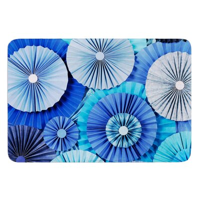 Blue Lagoon by Heidi Jennings Bath Mat Size: 24 W x 36 L