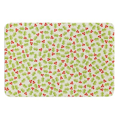 Oh Holly Night by Heidi Jennings Bath Mat Size: 24 W x 36 L