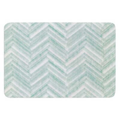 Painted Chevron by Heidi Jennings Bath Mat Size: 24 W x 36 L
