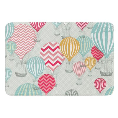 Hot Air Baloons by Heidi Jennings Bath Mat Size: 24 W x 36 L
