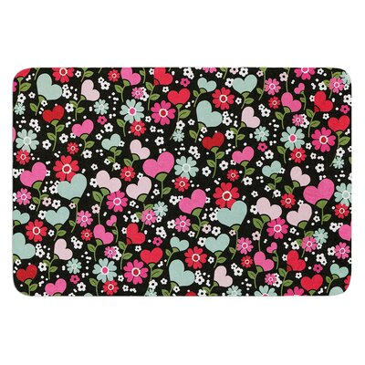 Love is Growing by Heidi Jennings Bath Mat Size: 17W x 24L
