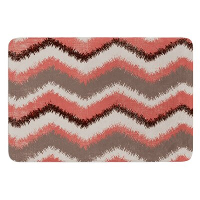 Fuzzy Chevron by Heidi Jennings Bath Mat Size: 17W x 24L