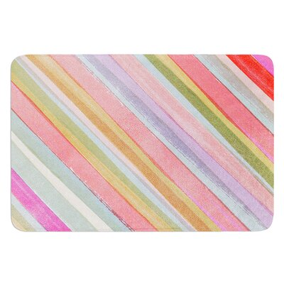 Pastel Stripes by Heidi Jennings Bath Mat Size: 24 W x 36 L