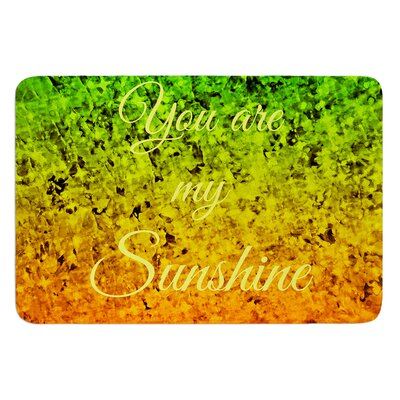 You Are My Sunshine by Ebi Emporium Bath Mat Size: 17 W x 24 L