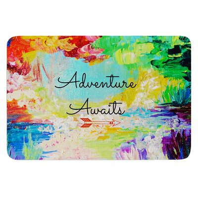 Adventure Awaits by Ebi Emporium Bath Mat Size: 24 W x 36 L