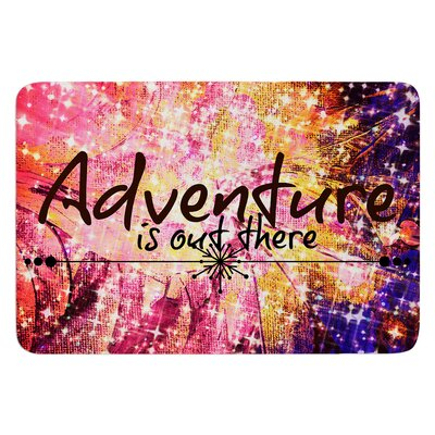 Adventure is Out There by Ebi Emporium Bath Mat Size: 24 W x 36 L