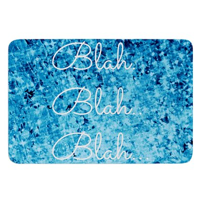 Blah Blah Blah by Ebi Emporium Bath Mat Size: 17