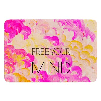 Free Your Mind by Ebi Emporium Bath Mat Size: 24 W x 36 L