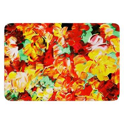Floral Fantasy II by Ebi Emporium Bath Mat Size: 17 W x 24 L