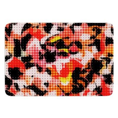 Camouflage Grid by Matthias Hennig Bath Mat