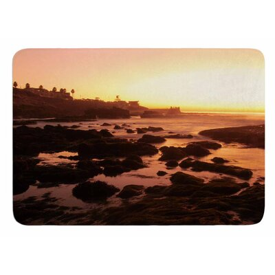 Rocks Of La Jolla Sunset by Nick Nareshni Bath Mat