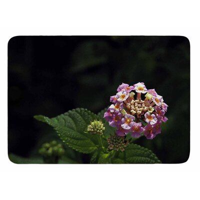 Lantana Flower by Nick Nareshni Bath Mat