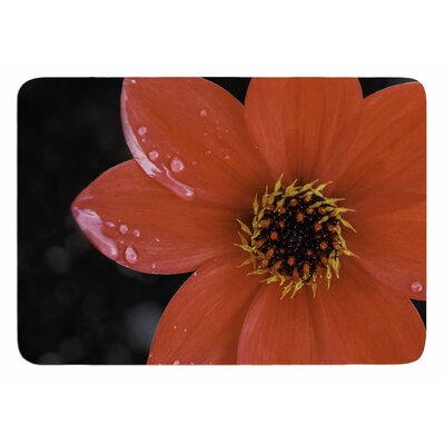 Wet Red Flower Petals by Nick Nareshni Bath Mat