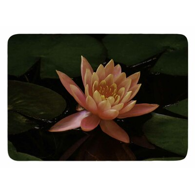 Lily Pad Flower by Nick Nareshni Bath Mat