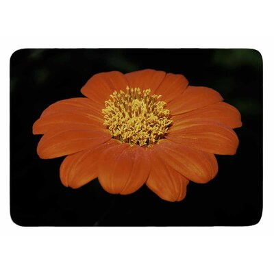 Open Wide Red Flower by Nick Nareshni Bath Mat