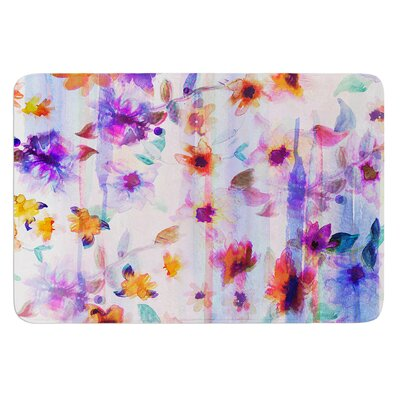 Floral Ombre by Nikki Strange Bath Mat