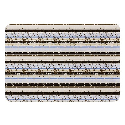 Nautical Breeze Sandy Stripes by Mydeas Bath Mat Size: 17W x 24L