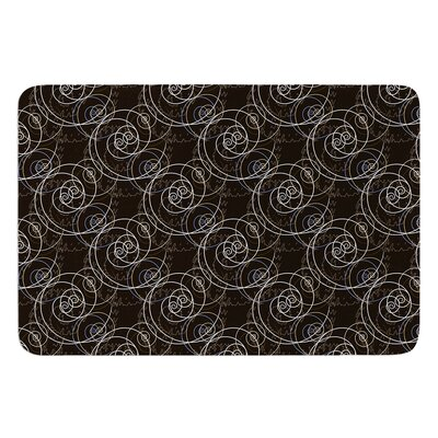 Nautical Breeze Spiral Swirls by Mydeas Bath Mat Size: 24 W x 36 L