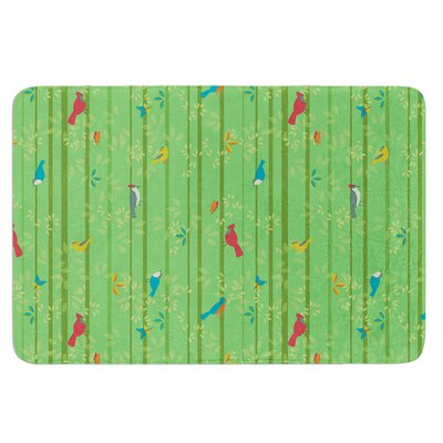 Hello Birdies by Allison Beilke Bath Mat Size: 17W x 24L