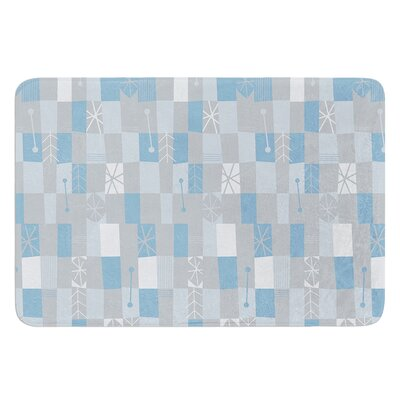 Nature Check Winter by Allison Beilke Bath Mat Size: 17W x 24L