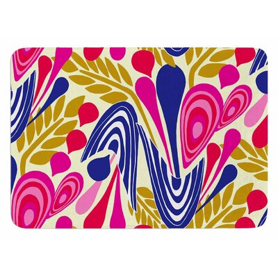 Abstract Bouquet by Amy Reber Bath Mat