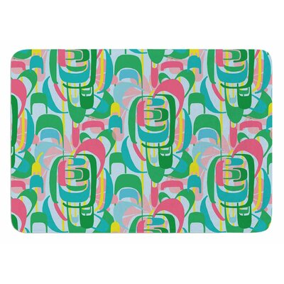 Rainbow Geometric by Amy Reber Bath Mat