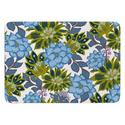 Dahlias by Amy Reber Bath Mat