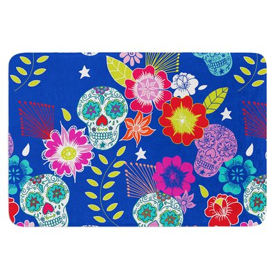 Day of the Dead by Anneline Sophia Bath Mat Size: 24 W x 36 L