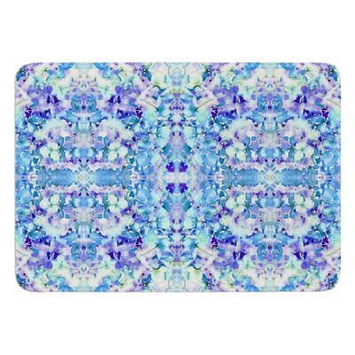 Floral Fantasy Reflection by Carolyn Greifeld Bath Mat