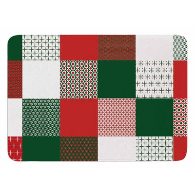 Holiday Patchwork by Carolyn Greifeld Bath Mat