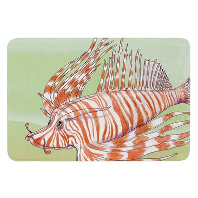 Fish Manchu by Catherine Holcombe Bath Mat Size: 17W x 24 L
