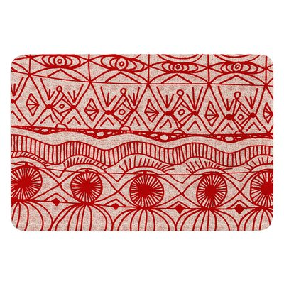 Cranberry by Catherine Holcombe Bath Mat Size: 24 W x 36 L