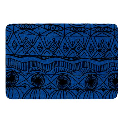 Black and Blue by Catherine Holcombe Bath Mat Size: 24 W x 36 L