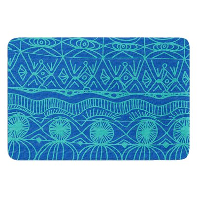 Beach Blanket Confusion by Catherine Holcombe Bath Mat Size: 17W x 24 L