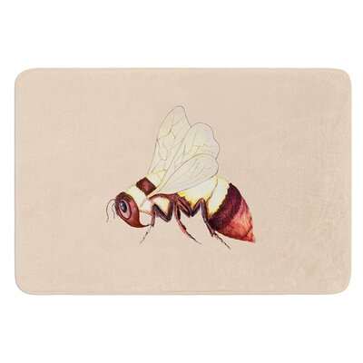 Bee Happy by Catherine Holcombe Bath Mat Size: 17W x 24 L