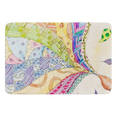 The Painted Quilt by Catherine Holcombe Bath Mat Size: 17W x 24 L