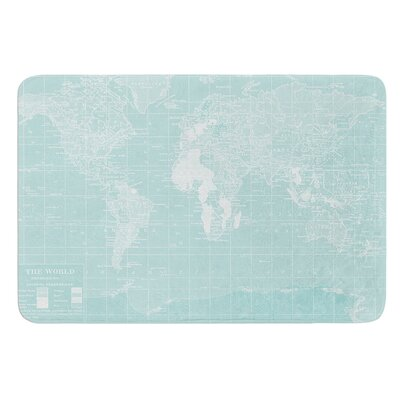 Welcome to my World by Catherine Holcombe Bath Mat Size: 24 W x 36 L